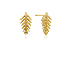 Load image into Gallery viewer, Gold Palm Stud Earrings E011-03G