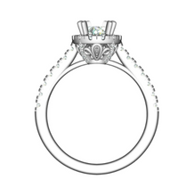 Load image into Gallery viewer, Platinum Teardrop Halo Diamond Ring