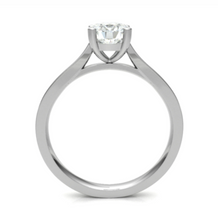 Load image into Gallery viewer, 18ct White Gold Round Diamond Ring with Tapered Shoulders