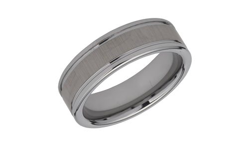 Tungsten Ring with Brushed Effect TUR-77