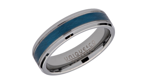 Tungsten Ring with Blue IP Plating TUR-89