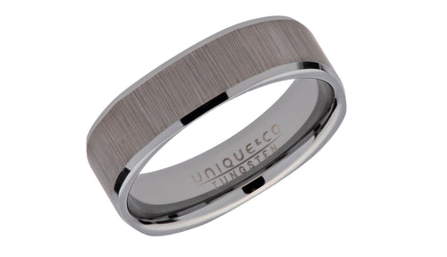 Tungsten Ring with Square Profile TUR-93