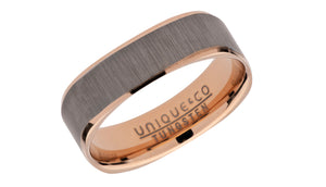Tungsten Ring with Rose and Square Profile TUR-94