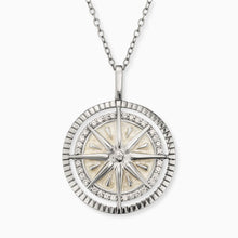 Load image into Gallery viewer, Windrose Silver Necklace