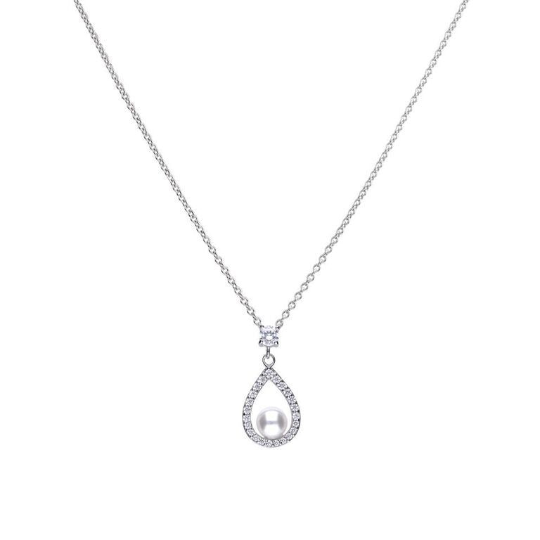 Pearl Open Teardrop Necklace P4620