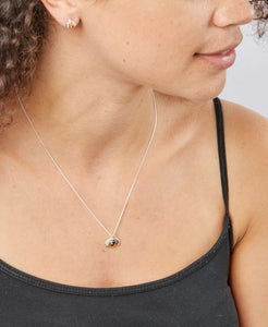 Silver & Gold Bee Pendant