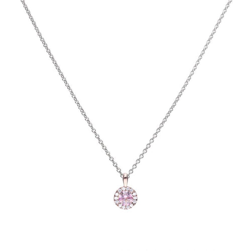 Dusky Pink Round Cluster Pendant P4779