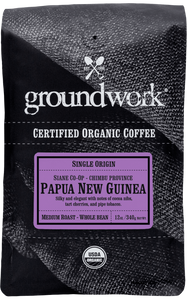 Espresso Detective's Coffee Bean Choice:  Groundwork - Papua New Guinea -  Certified Organic
