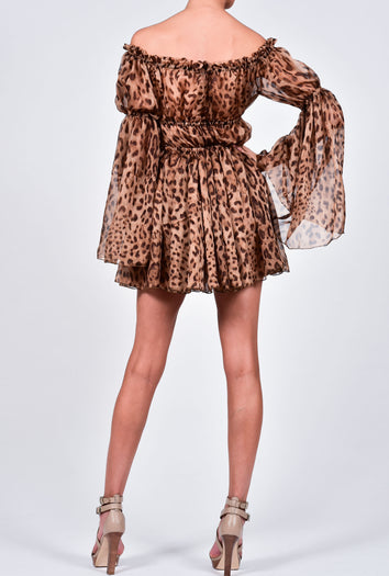 Ava Leopard Print Mini Dress