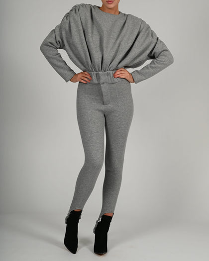 Martina Trousers in Grey Jersey