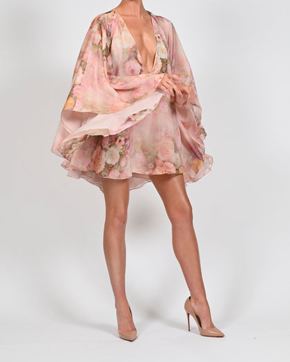 Lorena Dress in Rose Silk