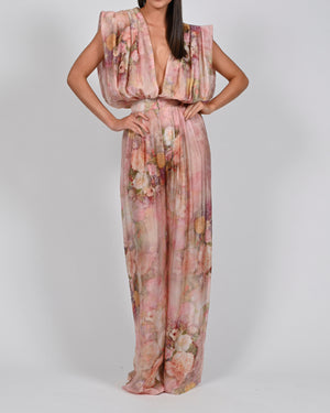 Yasmin Jumpsuit in Rose Silk