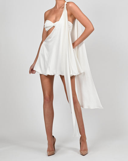 Anthia Dress in Ivory Satin