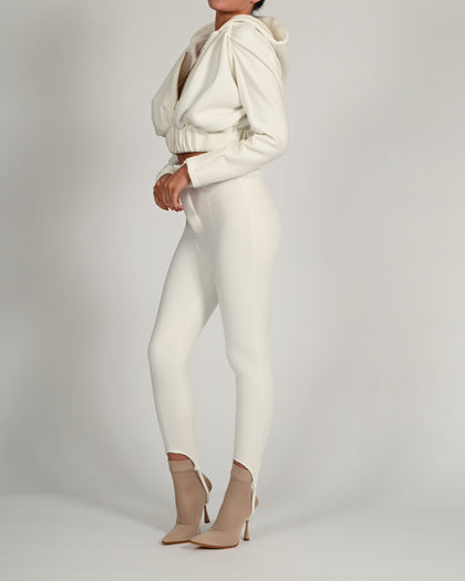 Elle Jacket in White Jersey
