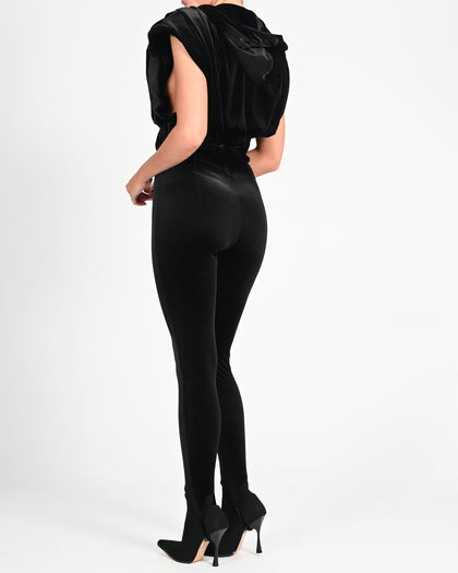 Martina Trousers in Black Velvet