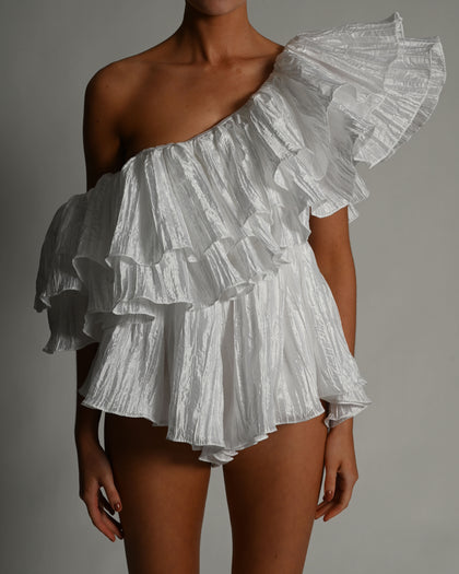 Shelby Playsuit in White