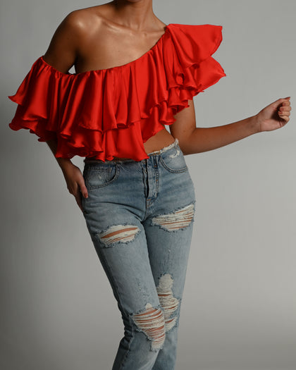 Liliana Top in Candy Apple Red