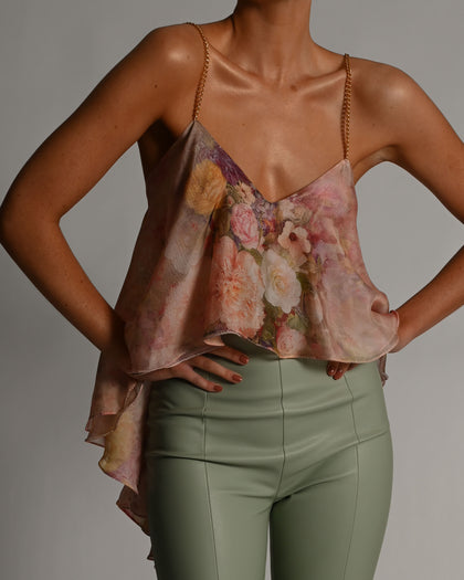 Alexi Top in Rose Silk