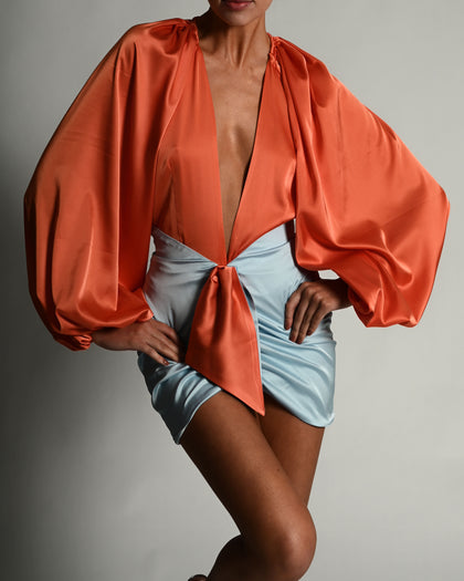 Beaudelle Set in Tangerine and Sky