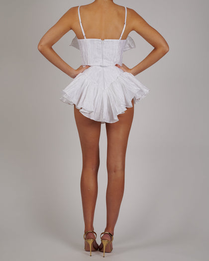 Dolce Playsuit in White Crinkle