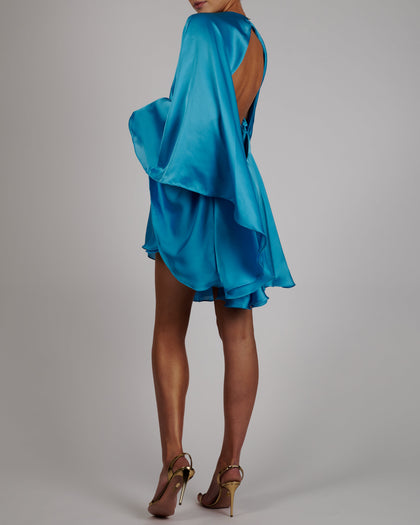 Lorena Dress in Turquoise