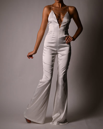 Harmony Jumpsuit in Ivory