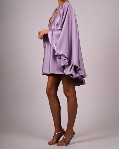 Lorena Crystal Dress in Lilac