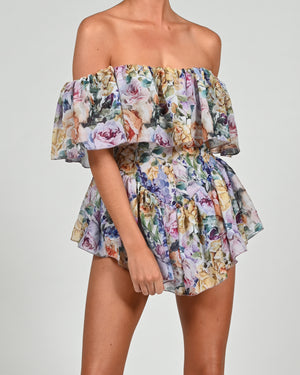 Vita Playsuit in Violeta Print