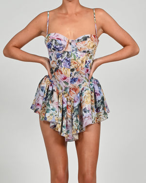 Dolce Playsuit in Violeta Print