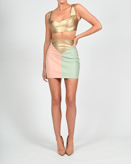 Cassie Mini Skirt in Pastel