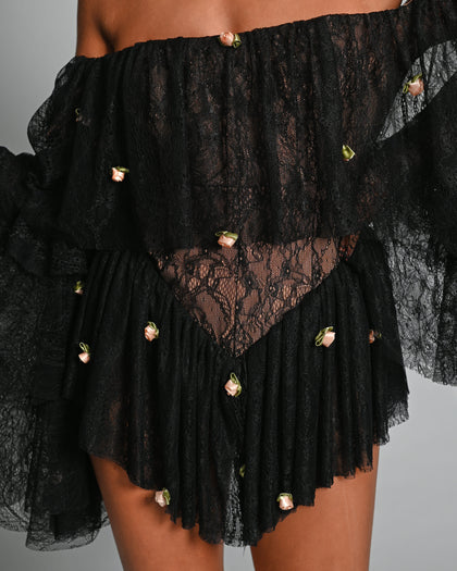 Madonna Playsuit in Black