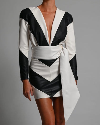 Terri Jacket and Skirt in Monochrome