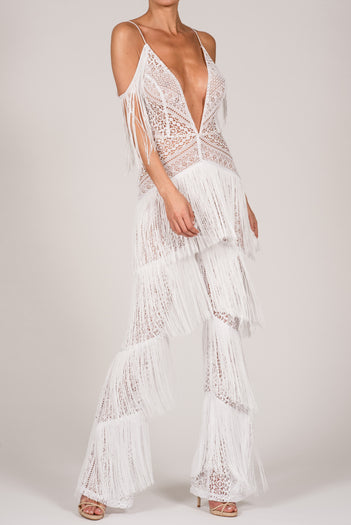 Sienna Jumpsuit in White
