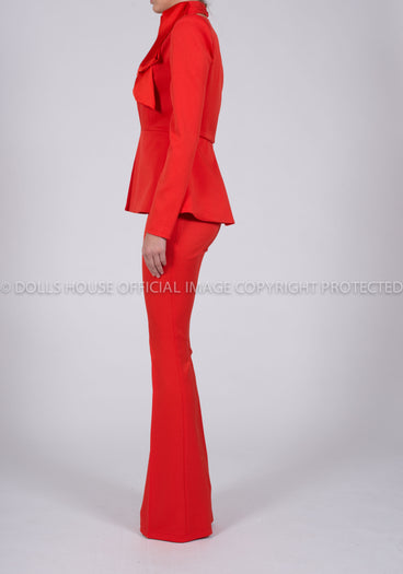 Faith Suit Jacket in Red