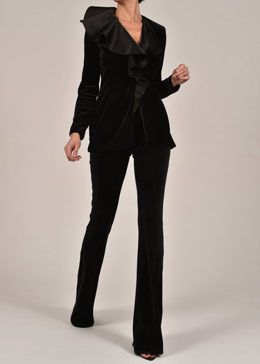 Dita Suit in Black Velvet