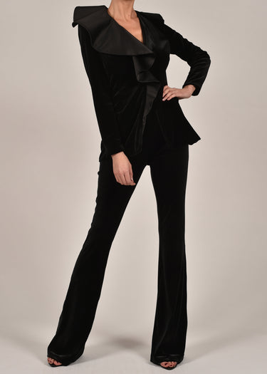 Dita Jacket in Black Velvet