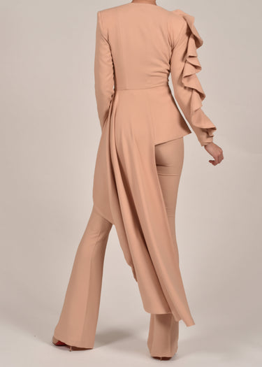 Charlotte Jacket in Nude