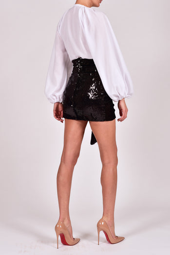 Beaudelle Skirt and Top in Black Sequin