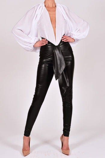 Beaudelle Leather Pants and Top