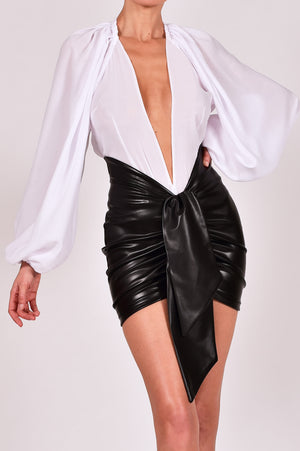 Beaudelle Skirt and Top in Leather