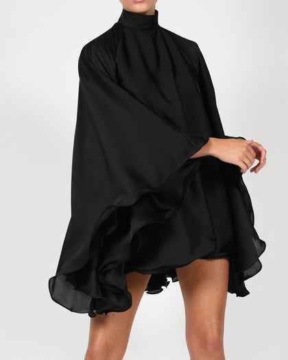 High Neck Lorena Dress in Black