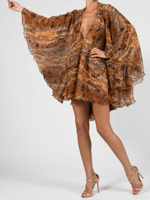 Lorena Dress In Python Silk