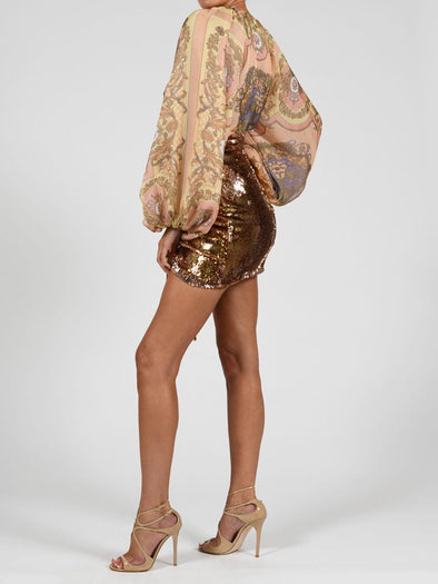Beaudelle Skirt In Liquid Gold