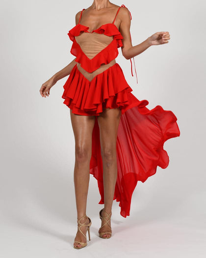 Aphrodite Dress in Red
