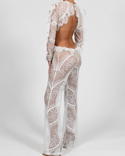 Kiah Jumpsuit in French Lace