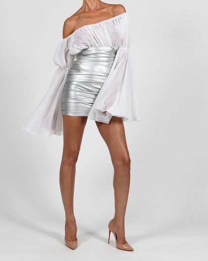 Kylie Skirt in Silver