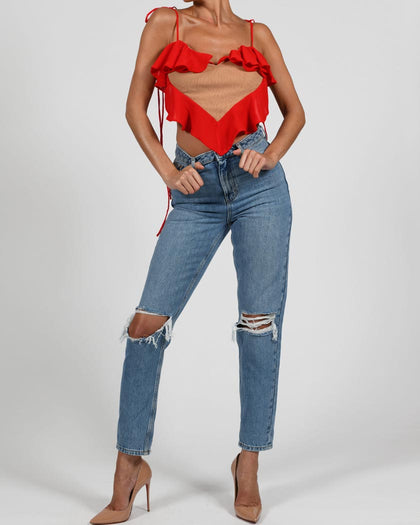 Aphrodite Top in Red