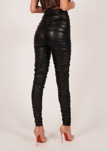 Kylie Leather Trousers