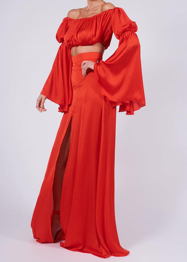 Ava Maxi Set in Candy Apple Red