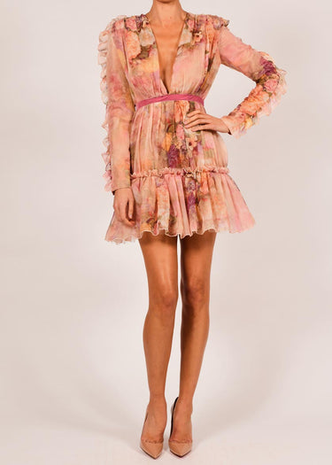 Paloma Dress in Rose Print